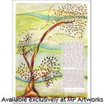 autumn tree ketubah