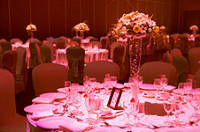 Pink Wedding Reception Table Settings
