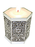 Yahrzeit Silver Candle Holder